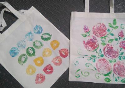 torby owoce i kwiaty